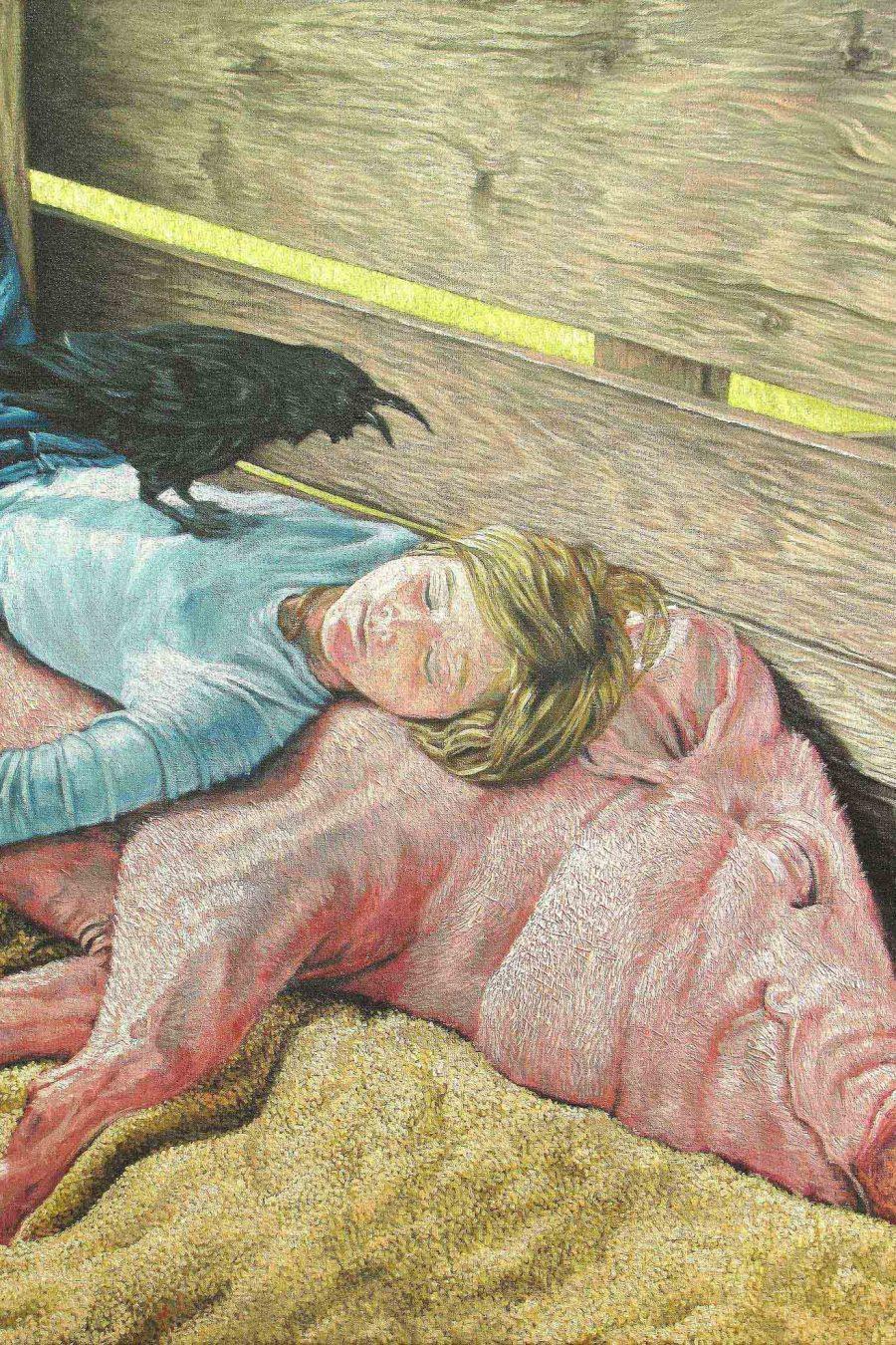 Sleep in the barn. olio su tela, cm.124x100. '12._modificato-1